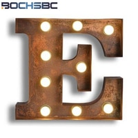 BOCHSBC Cafe Logo E Wall Lamp Art Deco Lamp Letters E LED Lamps Metal Letters Light for Vintage Clothing Store Lampada da tavolo