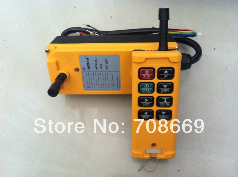 8 Channels Control Hoist Crane Radio Remote Control System