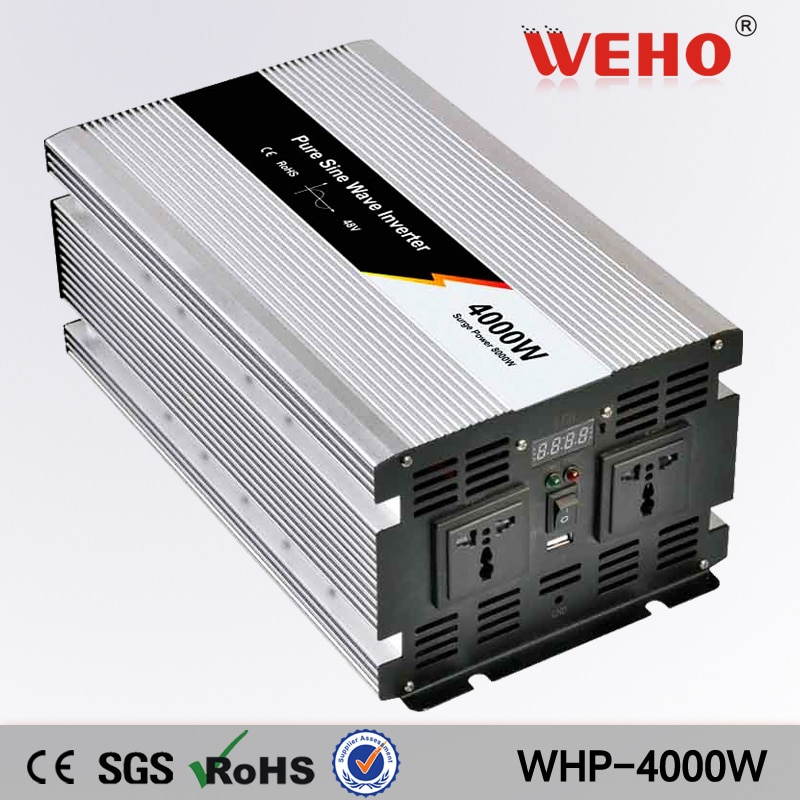 (WHP-4000-122) 4000W Solar Power System Pure Sine Wave Inverter 12Vdc to  220Vac 50Hz
