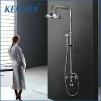 kemaidi bath shower mixer with hand shower chrome solid brass silver plated finish bathroom shower set rain shower head tap