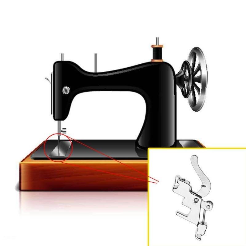 1 Pza de máquina de coser prensadora de pie de caña baja adaptador de mango a presión soporte de pie para máquina de coser doméstica herramientas de coser
