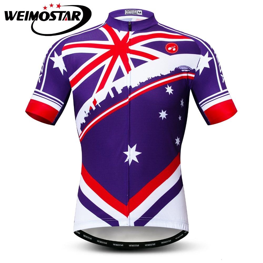 Camiseta de manga corta de Ciclismo para hombre, camiseta de bicicleta de carretera, Maillot, Ropa de Ciclismo de carrera, Ropa de Ciclismo, Ropa de bicicleta, Australia
