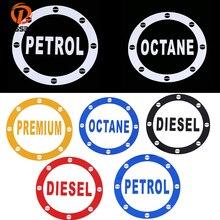 POSSBAY Auto Zubehör Kraftstoff Tank Kappe Aufkleber Öl Tank Decals DIESEL BENZIN OCTANE Wort Vinyl Automatische Fenster Aufkleber