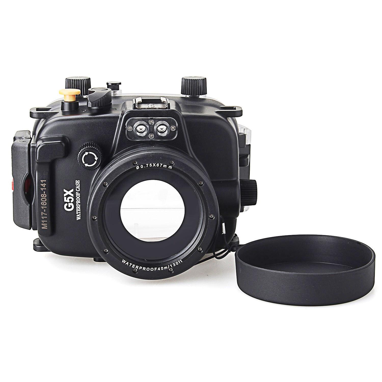 Meikon 40 m/130ft boîtier de plongée sous-marine pour appareil photo Canon G5X, appareil photo étanche sacs housse de protection pour Canon G5X