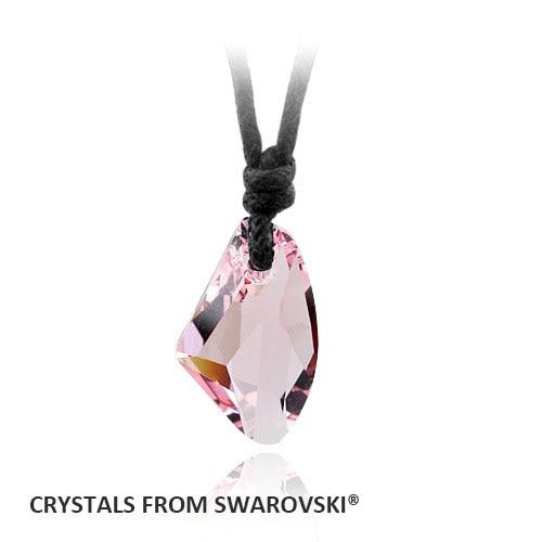 Gran oferta collar de cuerda con colgante de algodón de 18MM con cristal de Swarovski bueno para regalo