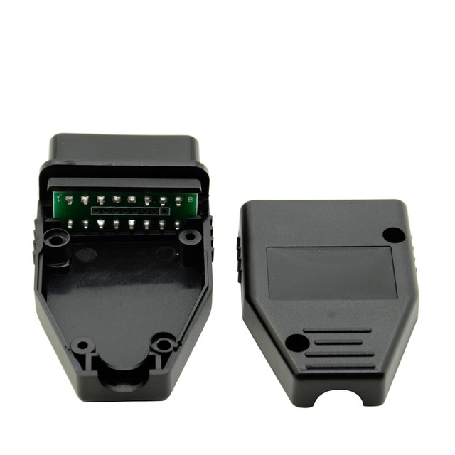 10 teile/los Neue OBD2 16Pin Stecker Buchse Stecker Adapter OBD OBDII EOBD J1962 OBD2 16Pin Verdrahtung Adapter 16Pin Shell großhandel