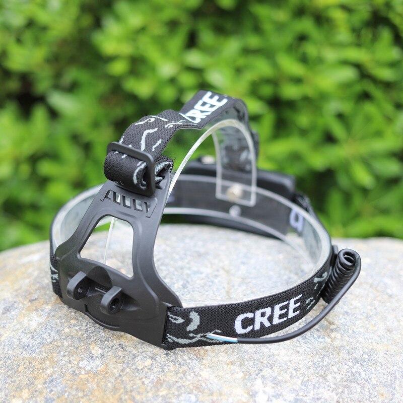 Yupard cinta para cabeza cinturón trasero 18650 batería caja faro cinturón cinta para linterna de cabeza