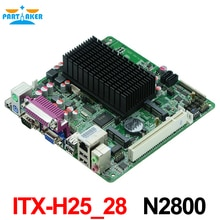 Carte mère Intel ATOM N2800 avec cartes mères 6 COM, Mini ITX-H25_28 avec carte mère LVDS