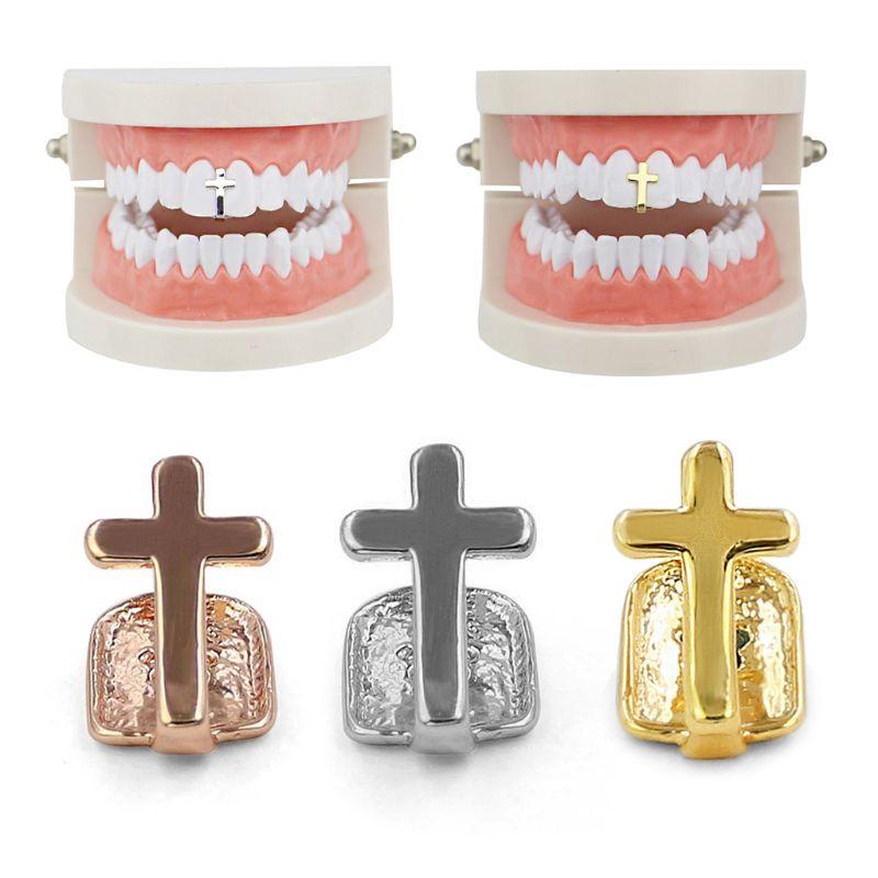 Diente único, rapero, Cruz de roca, parrillas, diente, decoración de dientes, Hip Hop, joyería corporal