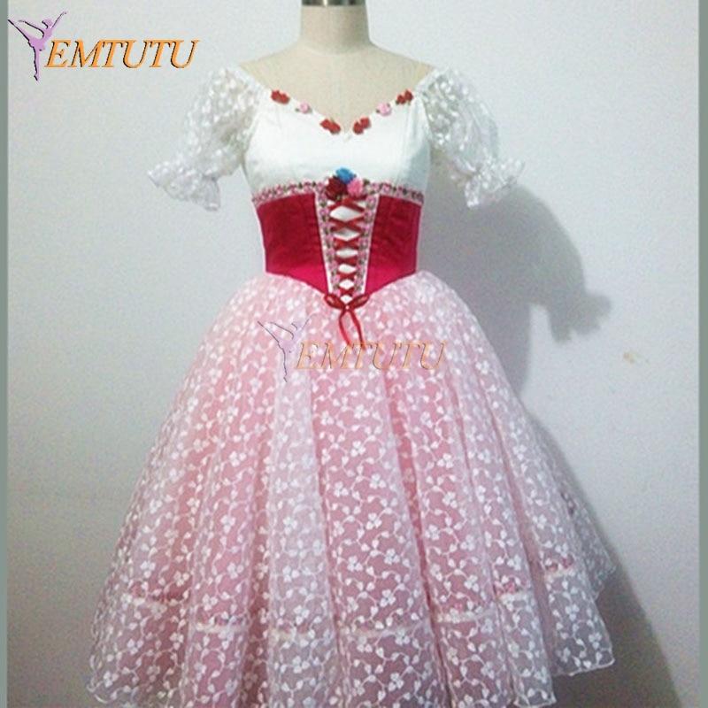 Tutú de Ballet LARGO DE Coppelia para niñas, traje de Ballet clásico con tutú romántico profesional para mujer