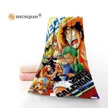Toalla de una pieza de Anime personalizada caliente impresa cara de algodón/toallas de baño de microfibra tela para niños hombres mujeres toallas de ducha A7.24-1