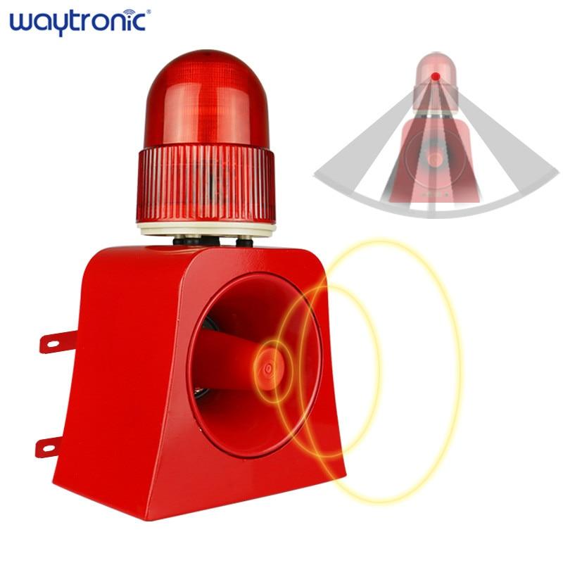 Industrial Wireless Microwave Motion Sensor Audible Visual Alarm Device LED Flashing Beacon Light Siren with USB Port