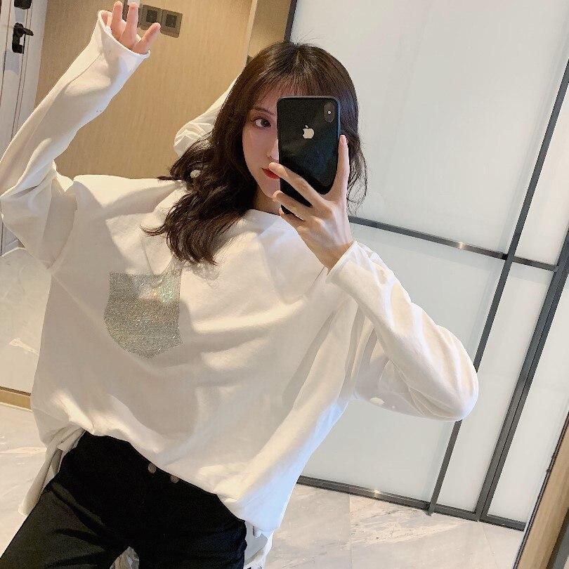 ¡Venta al por mayor! ¡Nuevo! Temporada primavera-verano-2019 otoño! Camiseta informal de netred a la moda para mujer, bonitos Tops MW223
