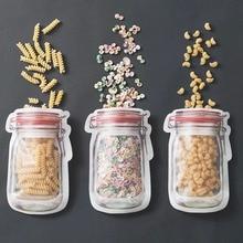 100 шт Матовая сумка для банок пакеты для закусок герметичная морозильная камера стоьте вверх молния замок сумки для кухни Продукты многораз...