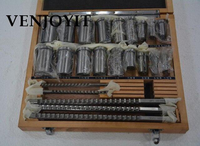 30 قطعة Keyway اطرح مجموعة بوصة الحجم 5 قطعة الدبابيس 1/2 ''-1-1/2 '18 قطعة البطانات و 7 قطعة الحشوات الأحرار Keyway أداة ل CNC آلة جديد