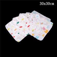 Baby Feeding Towel Teddy Bear Bunny Dot Chart Printed Children Small Handkerchief Gauze Towels Nursing Towel 10PCS