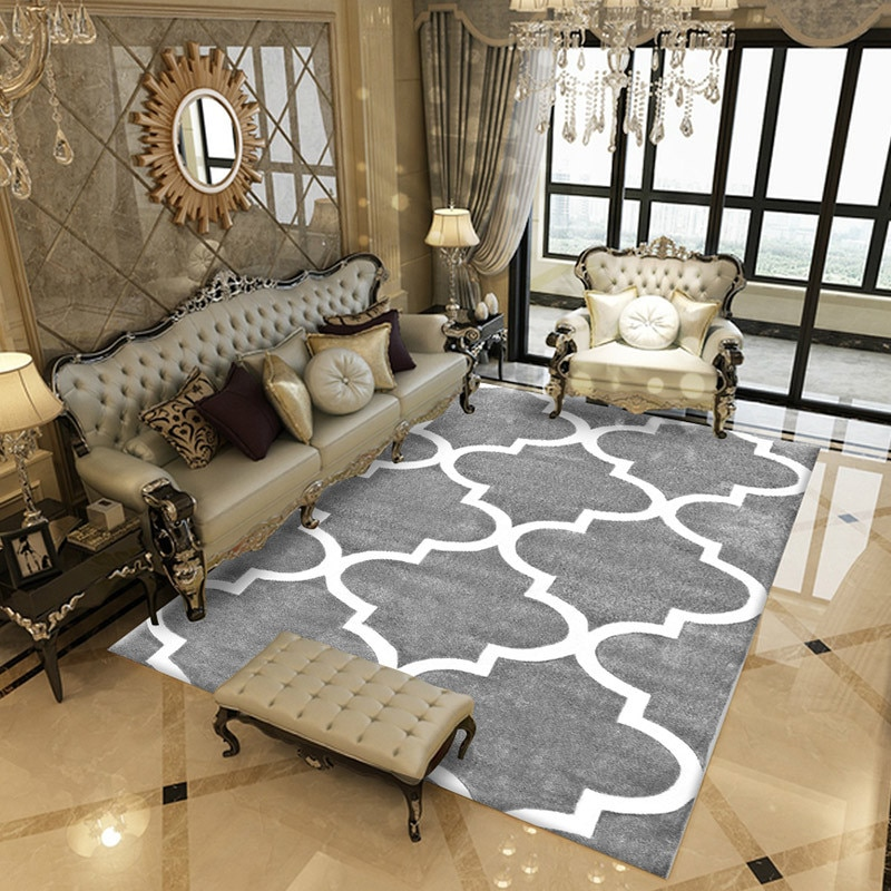 Nordic Style Geometric Modern Carpet for Living Room Bedroom Sofa Coffee Study Anti-Slip Carpets Showcase Rugs Household Rug