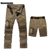 5XL hommes été séchage rapide amovible pantalon en plein air marque vêtements hommes respirant Shorts hommes randonnée Camping Trekking pantalon A009