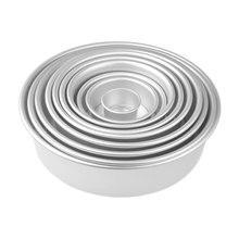Moule à gâteaux en mousseline de soie   Poêle à fromage ronde en aluminium avec fond amovible, poêle à gâteaux ronde 2/4/6/8/10 pouces