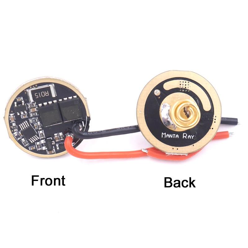 22mm 2.8V-4.2V Input 7A Constant Current Output 5-Mode LED Driver Flashlight Circuit Board For Lumimus SST-40.2 LED Emitter