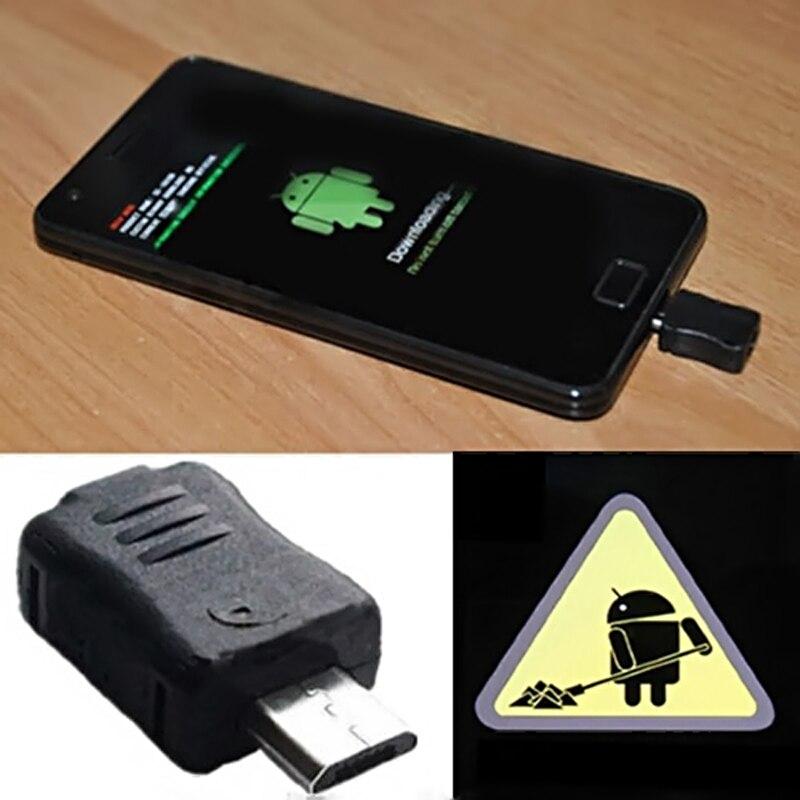 Alta calidad Micro USB Jig descargar Dongle modo para Samsung Galaxy S4 S3 S2 S S5830 N7100 herramienta de Reparación #1