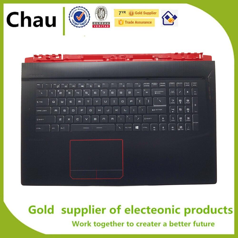 New For MSI GE73 GE73VR Upper Case Palmrest Cover With keyboard Full RGB Backlit