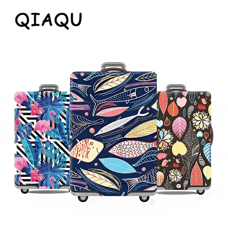 QIAQU moda novedosa funda protectora para equipaje de viaje en carretera cubierta de maleta cubierta de carrito cubierta de etiqueta de viaje Lugagge para 19 a 32 pulgadas