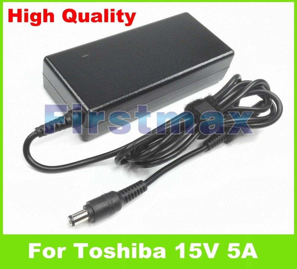 15 V 5A 75 W laptop AC carregador adaptador para Toshiba Tecra A6-S513 A6-ST3112 ST3512 A6-ST6315 A7 A7-S612 A7-S712 A7-ST5112 A8