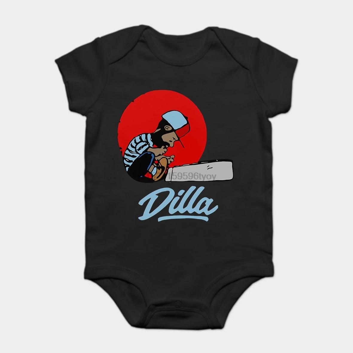 Mono de bebé Bodysuits chico Camiseta de algodón de manga corta J Dilla