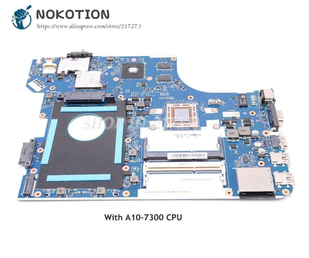 NOKOTION 04X5633 AATE1 NM-A241 Tablero Principal para lenovo Thinkpad E555 placa base de computadora portátil A10-7300 CPU DDR3