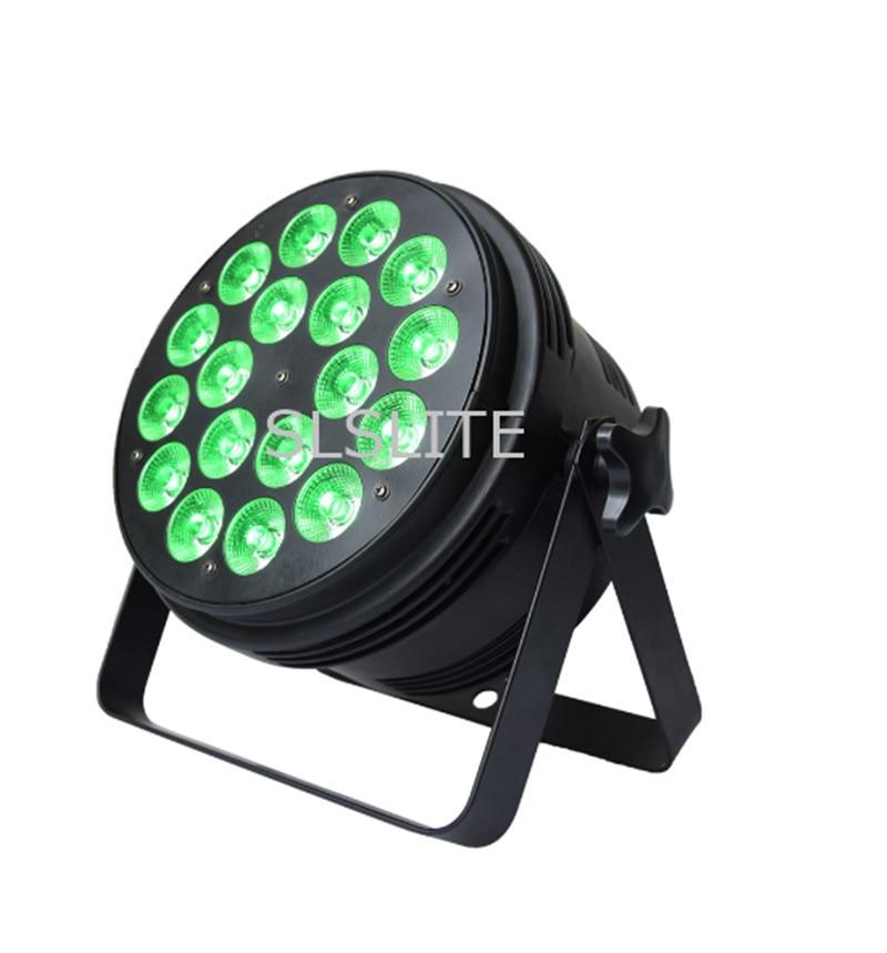 8 unids/lote nuevo PAR LED 18X15W RGBWA 5en1 DMX512 control etapa profesional DJ equipo luces de discoteca