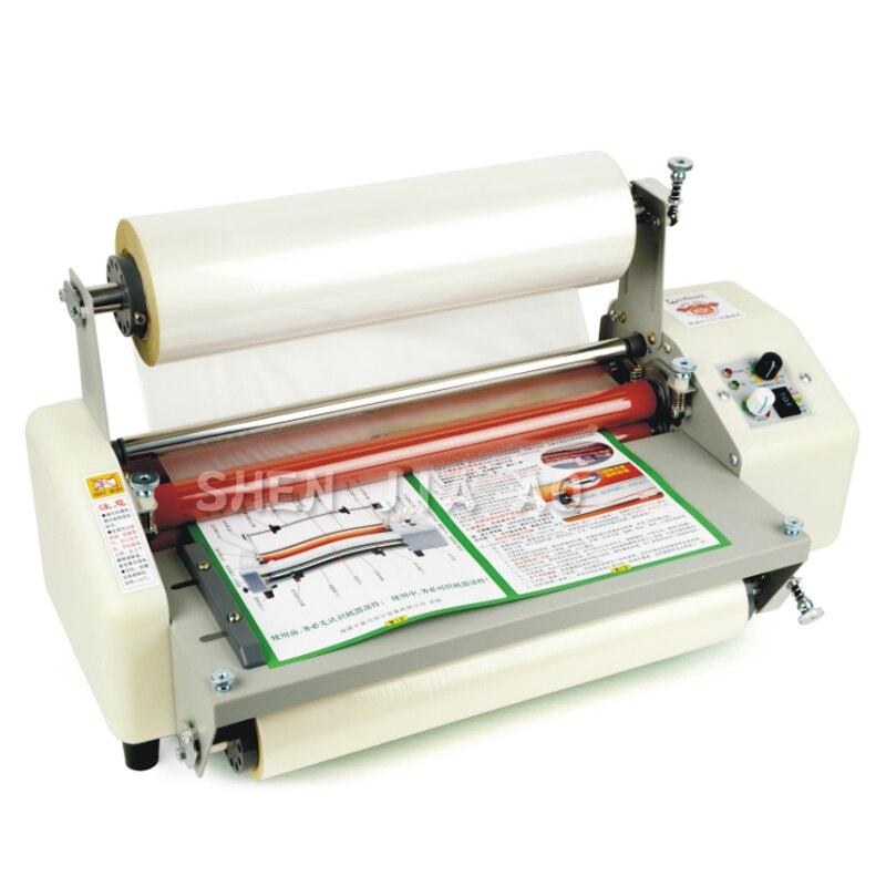 Machine de stratification chaude de petit pain de laminateur de 12th 8350T A3 + quatre rouleaux, machine à plastifier à extrémité élevé de régulation de vitesse 220v