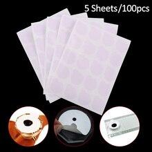 5 Sheets Disposable Eyelash Glue Holder Pallet Paper 2.5cm Eyelash Extension Glue Pads Stand on Eyelash Durable Beauty Tool