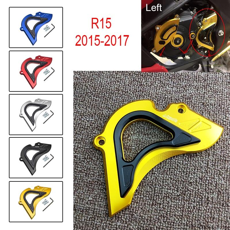 R15 15-17 передняя Звездочка, защитная крышка для цепи, защитный чехол, аксессуары для мотоциклов для YAMAHA YZF R15 YZF-R15 2015 2016 2017