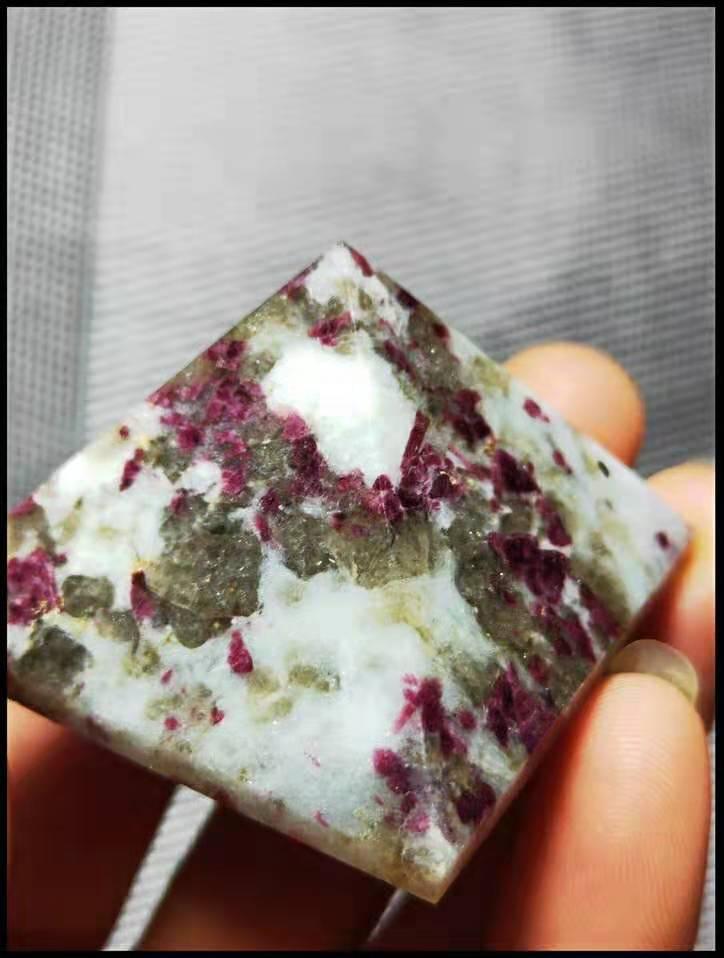 45-50 мм натуральный редкий красный турмалин пирамида из кристалла кварца исцеления
