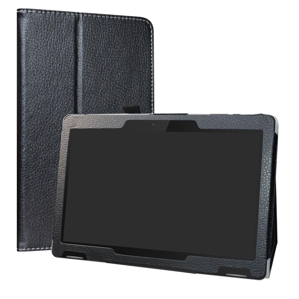 """Para 10.1 """"TrekStor Surftab B10 Caso Tablet Suporte Dobrável capa de Couro PU com fecho Magnético"""