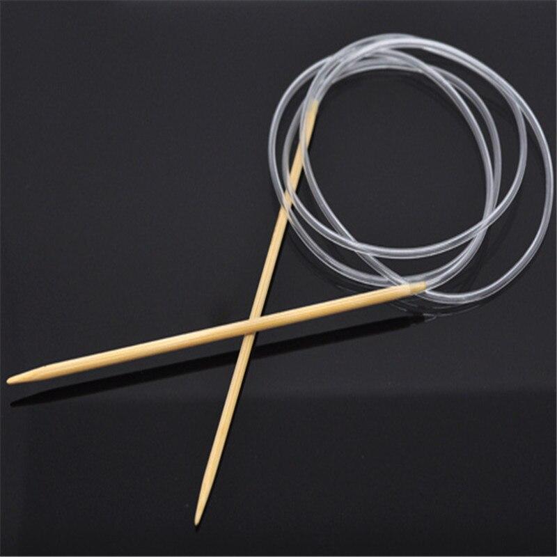DoreenBeads Bamboe Rondbreinaalden Transparante Buis Haaknaalden DIY Craft Naalden Loom Tool 120 cm Lange, 1 Paar