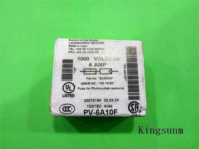 الشحن مجانا 5 قطع PV-6A10F بسمان 10x38 الطاقة الصمامات 6a 1000 فولت حقيقية