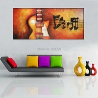unframed large hand painted still life music guitar oil painting abstract wall art picture for home decor wall gift