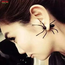 1PCS 2020 New Fashion Jewelry Girl Cool Black Spider Earrings Female Gifts
