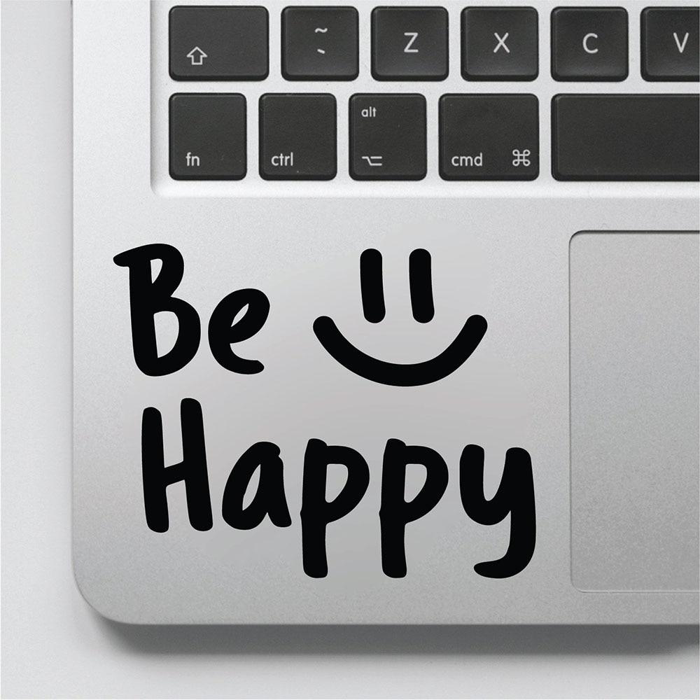 Werden Glücklich Aufkleber Positive Zitate Vinyl Wand Abziehbilder für Laptop Licht Schalter Motivations Worte Kunst Aufkleber Wandbild Abnehmbare D920