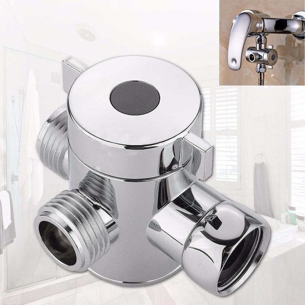 Bathroom Fixture Faucet Replacement Parts 1/2 Inch Three Way T-adapter Valve For Toilet Bidet Shower Head Diverter Valve