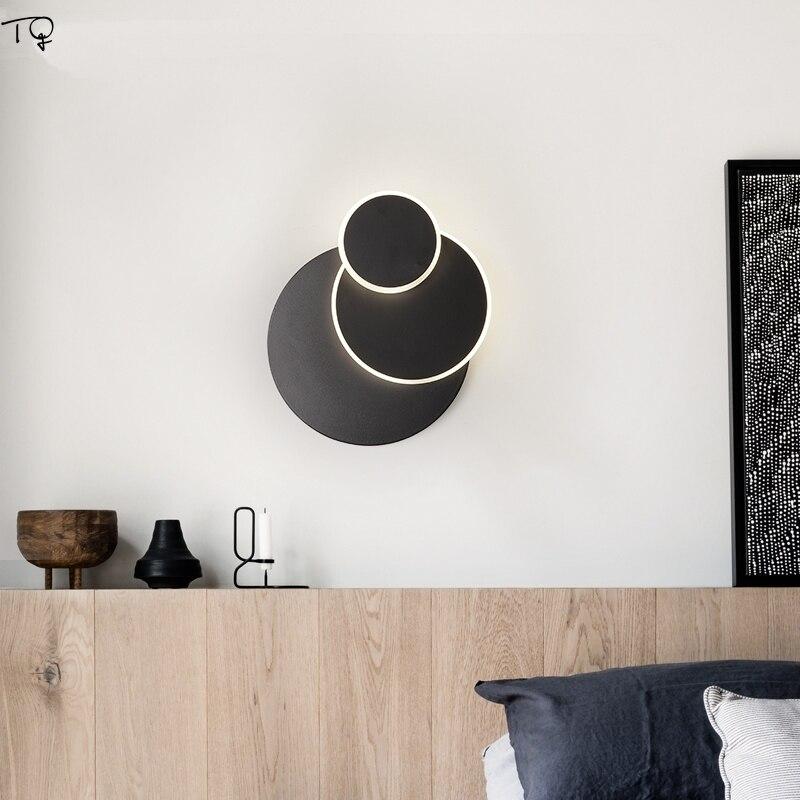 مصباح جداري دائري دوار ، مصباح جداري إسكندنافي حديث ، للممر ، غرفة المعيشة ، السرير ، غرفة النوم ، الدرج ، الديكور الفني الإبداعي البسيط