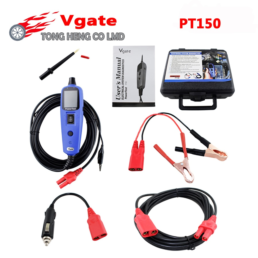 Probador de circuito de diagnóstico de Sistema eléctrico Original Vgate PT150 herramienta PT 150 probador de sonda de potencia Vgate PowerScan PT-150