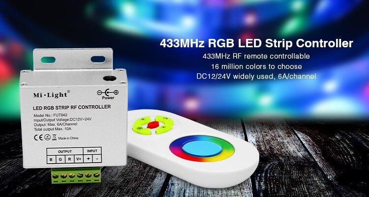 (1 set/lote) mi-light 433MHz Dual Blanco/regulador/RGB controlador de tira LED y control...