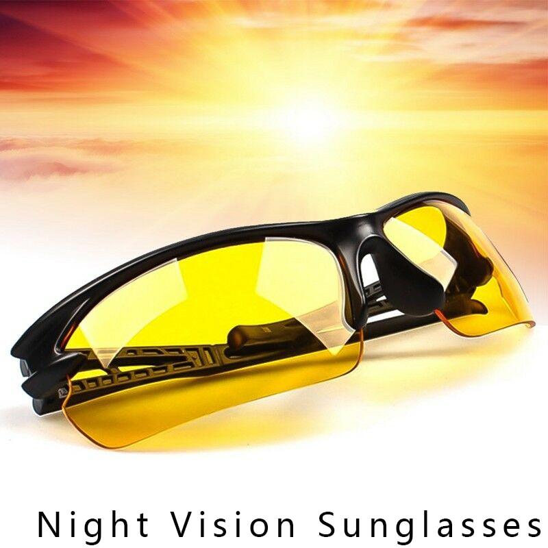 Gafas de visión nocturna para hombre, gafas de visión nocturna, gafas anti-noche con gafas luminosas para conducir, gafas deportivas para hombres, Coche