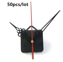 50pcs/lot wholesale DIY Quartz Clock Mechanism Parts Classic Clock Hanging Movement with hook Gorgeous hollow hands Inexpensive