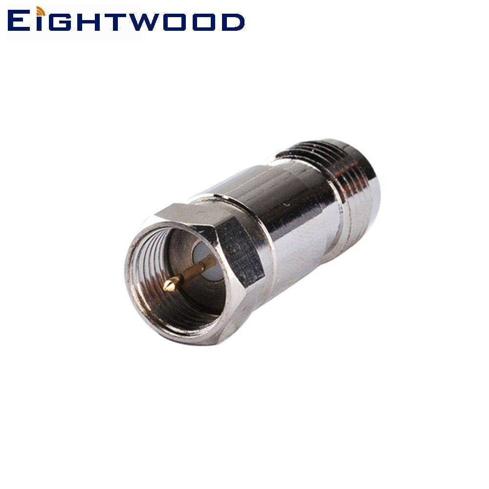 Eightwood 5 шт. TNC к F радиочастотному коаксиальному адаптеру штепсельная вилка TNC к разъему F гнездовой разъем RF коаксиальный соединитель прямой ...