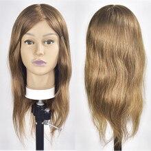 Tête Mannequin avec cheveux naturels 18
