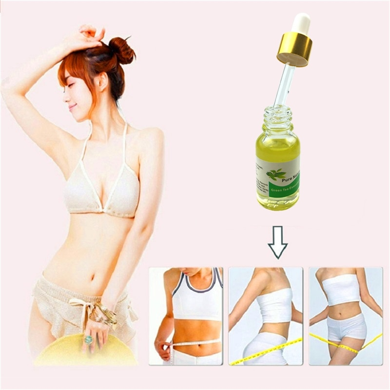 100% Fitness Green tea Lose Weight Essential oil Thin Leg Hip Waist Fat Burning Natural Safety Body